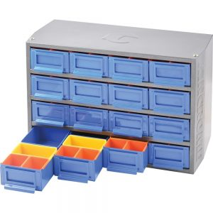 Kincrome 16 Drawer Multi Cabinet with 64 Removable Trays