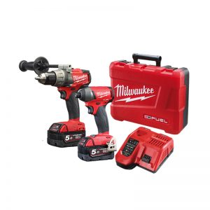 Milwaukee 18V Cordless 2pce Power Pack