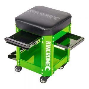 Kincrome 2 Drawer Workshop Creeper Seat (Green)