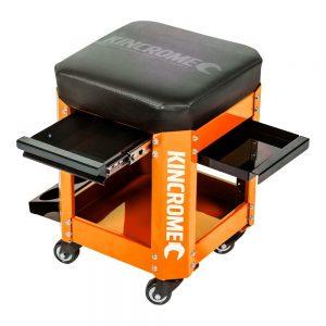 Kincrome 2 Drawer Workshop Creeper Seat (Orange)
