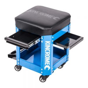 Kincrome 2 Drawer Workshop Creeper Seat (Blue)
