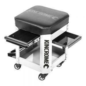 Kincrome 2 Drawer Workshop Creeper Seat (White)
