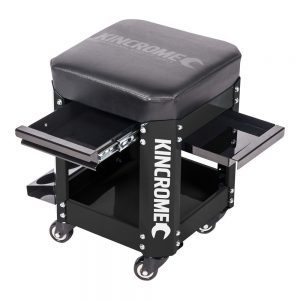 Kincrome 2 Drawer Workshop Creeper Seat (Black)