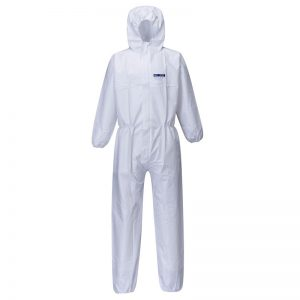 50x Disposable SMS White Coveralls Type 5/6
