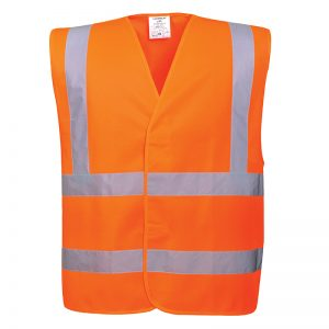 Portwest Hi-Vis Orange Two Band Brace Vest