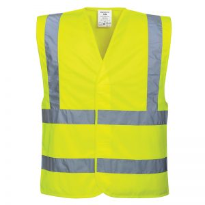 Portwest Hi-Vis Yellow Two Band Brace Vest