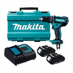 MAKITA 18V (1.5ah) Cordless Hammer Driver Drill Kit