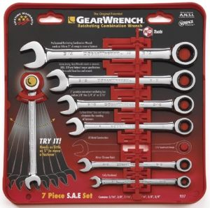 GEARWRENCH 7PCE Imperial Ratcheting Combination Wrench Kit