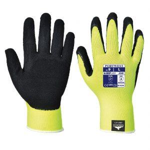 Hi-Vis Grip Glove Latex – Yellow