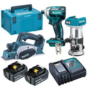 MAKITA 18V Lithium-Ion Cordless 3PCE Combo Kit