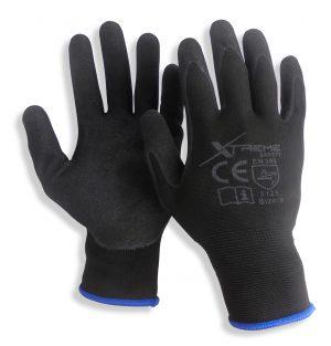 24x Xtreme Black Sandy Nitrile Gloves