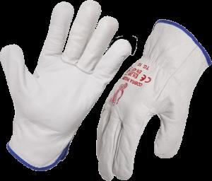 Leather Riggers Gloves Premium Full Grain Cow General Purpose Work Driver Glove