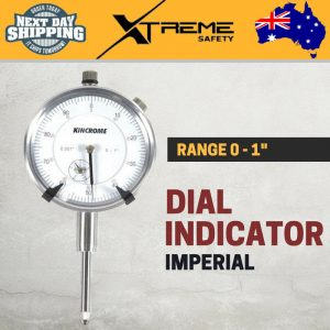 New Kincrome Imperial Dial Indicator 0-100 Inch Accurate Measuring Workshop Tool