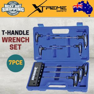 New Kincrome T-Handle Metric Hex Key Set 7pce Rubber Grips Chrome Vanadium Steel