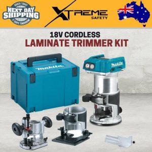 New Makita 18V Li-on Variable Speed Cordless Tool Brushless Laminate Trimmer Kit