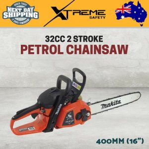 "New Makita 400mm (16"") 32CC 2 Stroke Limit Edition Red Petrol Chainsaw 1.35kW"