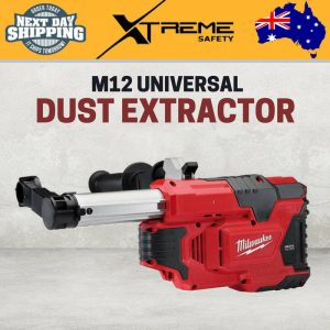 New Milwaukee M12 Cordless Universal Dust Extractor Skin with Hard Carry Case