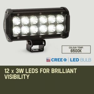 Bullet 2 x 36w cree led high intensity light bar aloadofball Choice Image