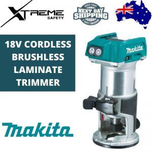 Makita 18V Cordless Brushless Laminate Trimmer – Skin Only #DRT50Z