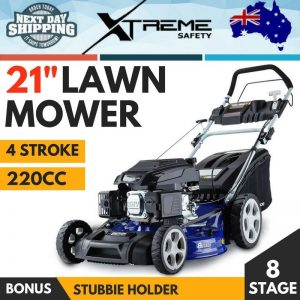 "New 220cc 4 Stroke Lawn Mower Self Propelled 21"" Lawnmower Grass Catch 8 Stage"