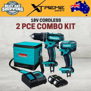 New Makita 18V Cordless 2 Piece Tools Combo Kit Hammer Drill and Impact Drill