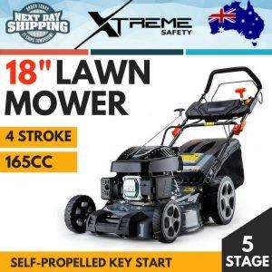 165CC Lawn Mower 4 Stroke Electric Key Start Self Propelled Lawnmower BAUMR-AG