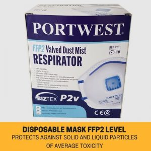 10X P2 DISPOSABLE DUST MASK WITH VALVE