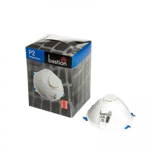 12x Pack of Bastion P2 Respirator With Valve