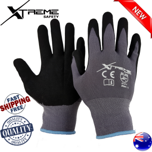 24 Pairs Xtreme Nitrile Safety Gloves Hand Protection 15G Work Glove
