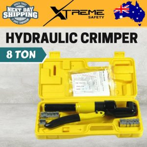 8 Ton 7 dies 6mm-70mm Heavy Duty Hydraulic Wire Crimper Crimping Tool Kit