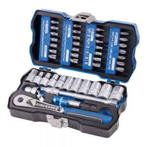 43PCE Kincrome 1/4in Metric Socket and Bit Set